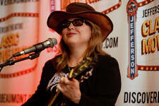 """Glenna Bell performs at the Jefferson Theatre's showing of """"Janis: Little Girl Blue,"""" a biographical film on Port Arthur native Janis Joplin. Bell was born in Beaumont but now lives in Houston.  Photo taken Thursday 1/19/17 Ryan Pelham/The Enterprise"""