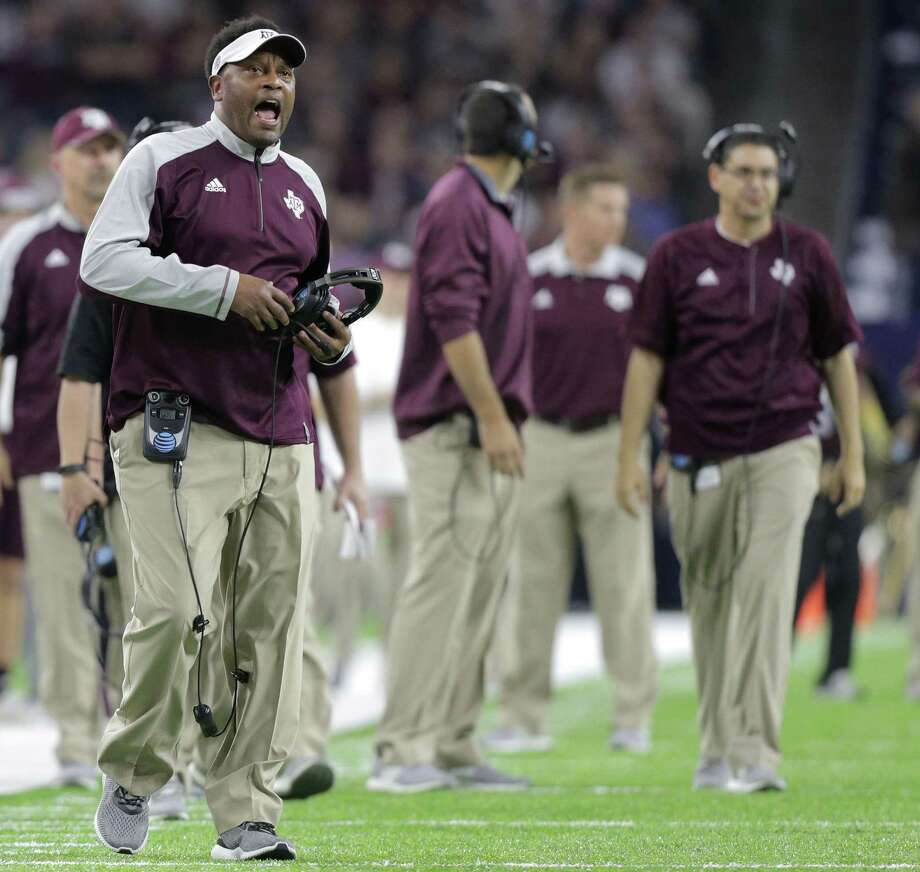 Texas A&M coach Kevin Sumlin reacts to a call during the second quarter of the Texas Bowl game against Kansas State at NRG Stadium on Dec. 28, 2016, in Houston. Photo: Elizabeth Conley /Houston Chronicle / © 2016 Houston Chronicle