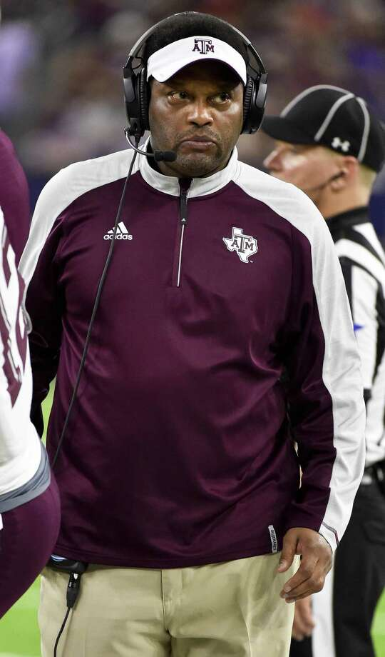 Texas A&M coach Kevin Sumlin walks the sideline during the second half of the Texas Bowl against Kansas State on Dec. 28, 2016, in Houston. Kansas State won 33-28. Photo: Eric Christian Smith /Associated Press / FR171023 AP