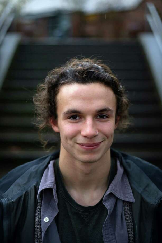 """""""The bottom line is I'm begging for money from people to buy back kayaks we own sitting on a trailer we built"""" -- Keenan Simpson, Garfield High senior, kayaker and outdoor activist with student-led POST84. Photo: GENNA MARTIN,  SEATTLEPI.COM / SEATTLEPI.COM"""