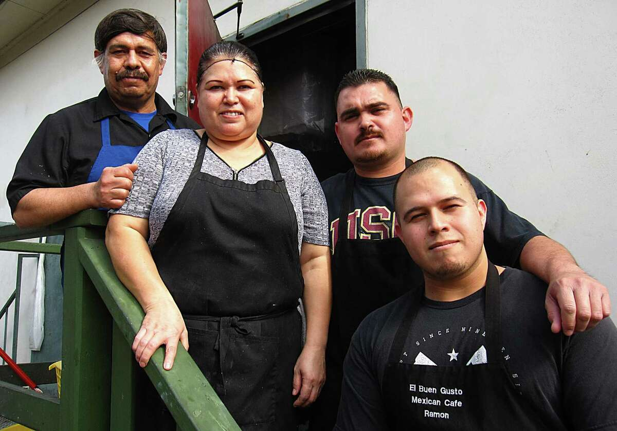 The Nuñez family opened El Buen Gusto Mexican Cafe in July 2011. From left: father Ramón, mother Jobita, oldest son Alfredo and younger son Ramón. Not pictured: daughter Alma.