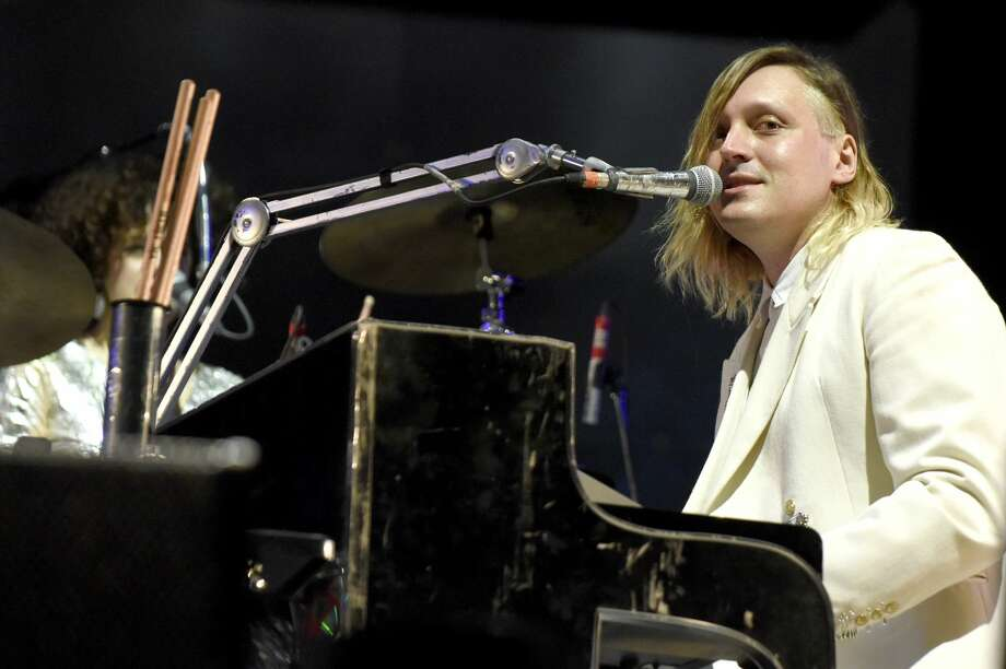 Win Butler of Arcade Fire performs during the Voodoo Music + Arts Experience at City Park on October 30, 2016 in New Orleans, Louisiana. The group is one of a handful of artists who released new music ahead of president-elect Donald Trump's inauguration on Friday. Photo: Tim Mosenfelder/Getty Images