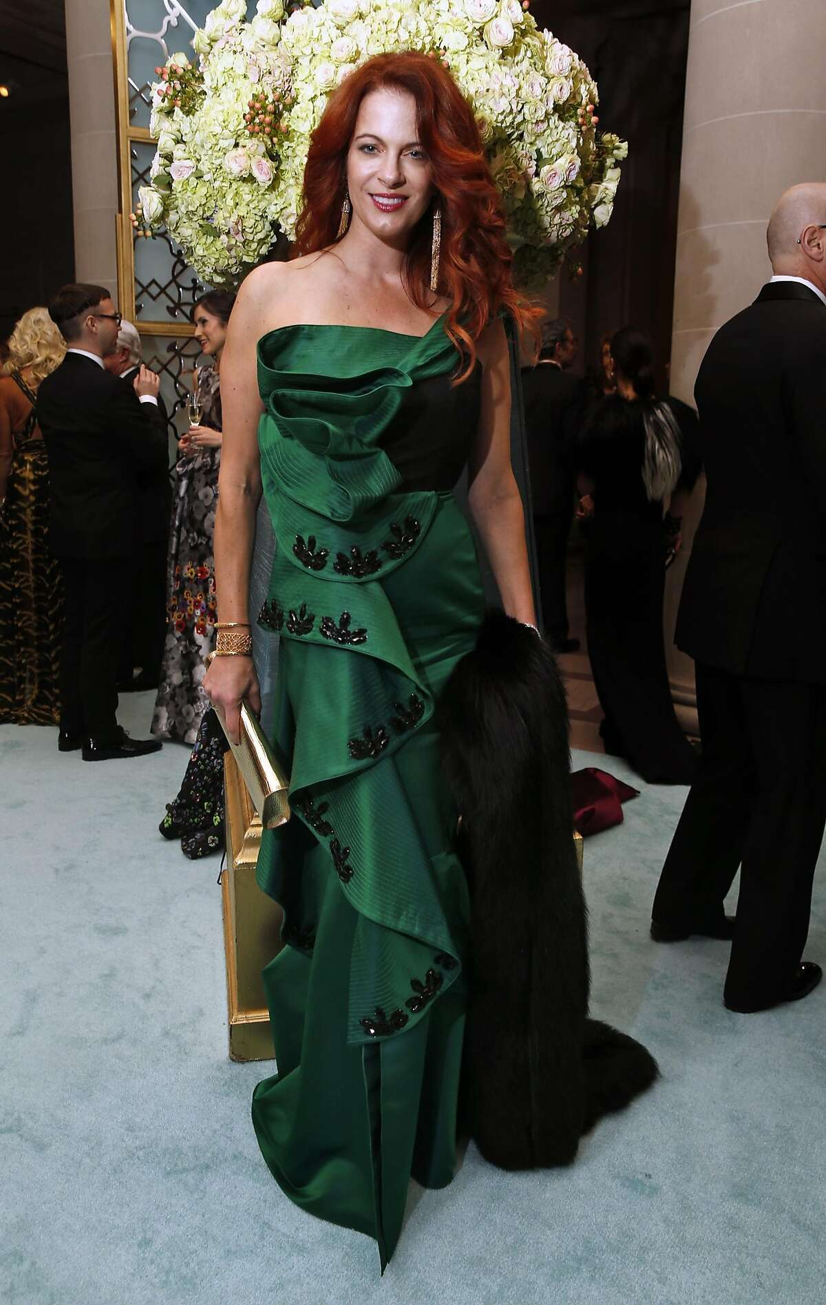 Nicole Needham in a Johanna Ortiz gown during San Francisco Ballet Gala in San Francisco, Calif., on Wednesday, January 19, 2017.