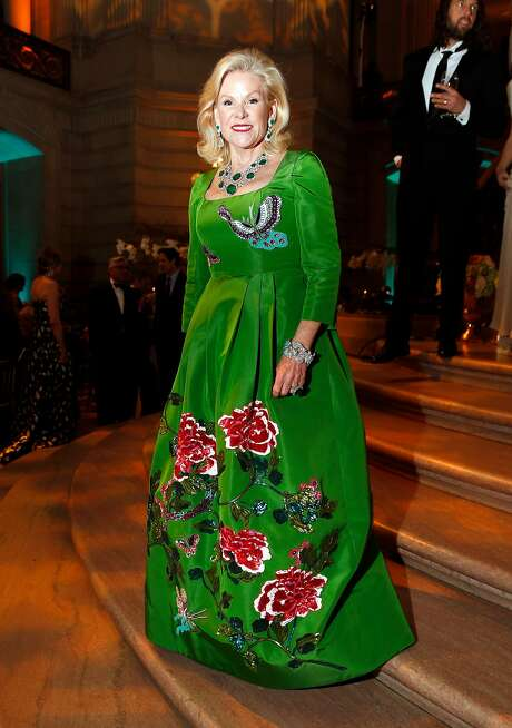 Dede Wilsey in an Andrew Gn gown during San Francisco Ballet Gala. Photo: Scott Strazzante, The Chronicle
