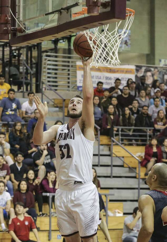TAMIU forward Jordan VanDeKop finished with 16 points and eight rebounds as the Dustdevils beat Newman 77-69 Thursday night to take over sole possession of first place in the Heartland Conference. Photo: Victor Strife /Laredo Morning Times
