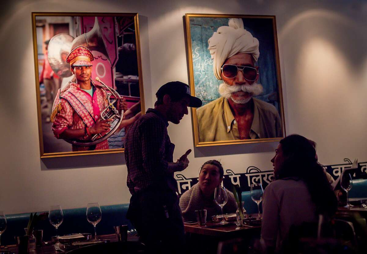 People have dinner at Babu Ji in San Francisco, Calif. on January 19th, 2017.