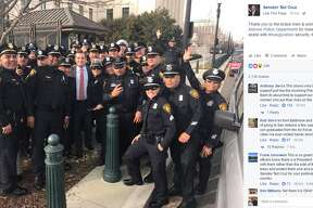 """""""Thank you to the brave men & women of San Antonio Police Department for traveling up to DC to assist with #Inauguration security. #TexasProud"""""""