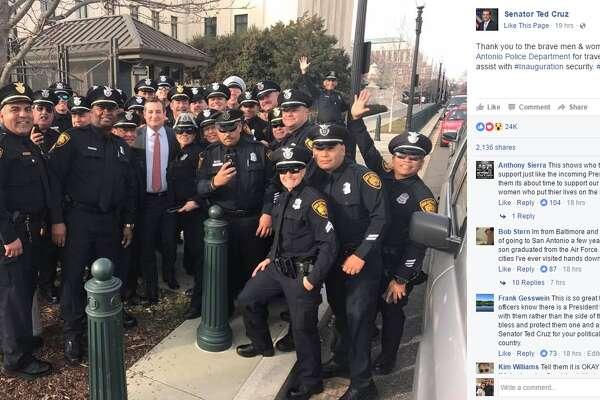 U S  Sen  Ted Cruz meets with SAPD officers ahead of