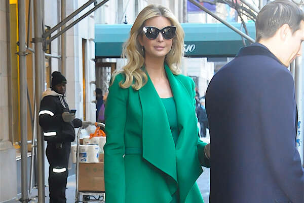 NEW YORK, NY - JANUARY 19:  Ivanka Trump and her husband, Jared Kushner are seen walking in Midtown on January 19, 2017 in New York City.  (Photo by Raymond Hall/GC Images)