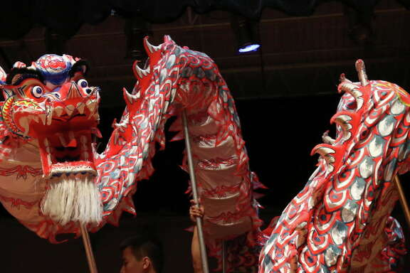 Celebrate the Chinese New Year with a traditional lion dance at The Woodlands Children's Museum.