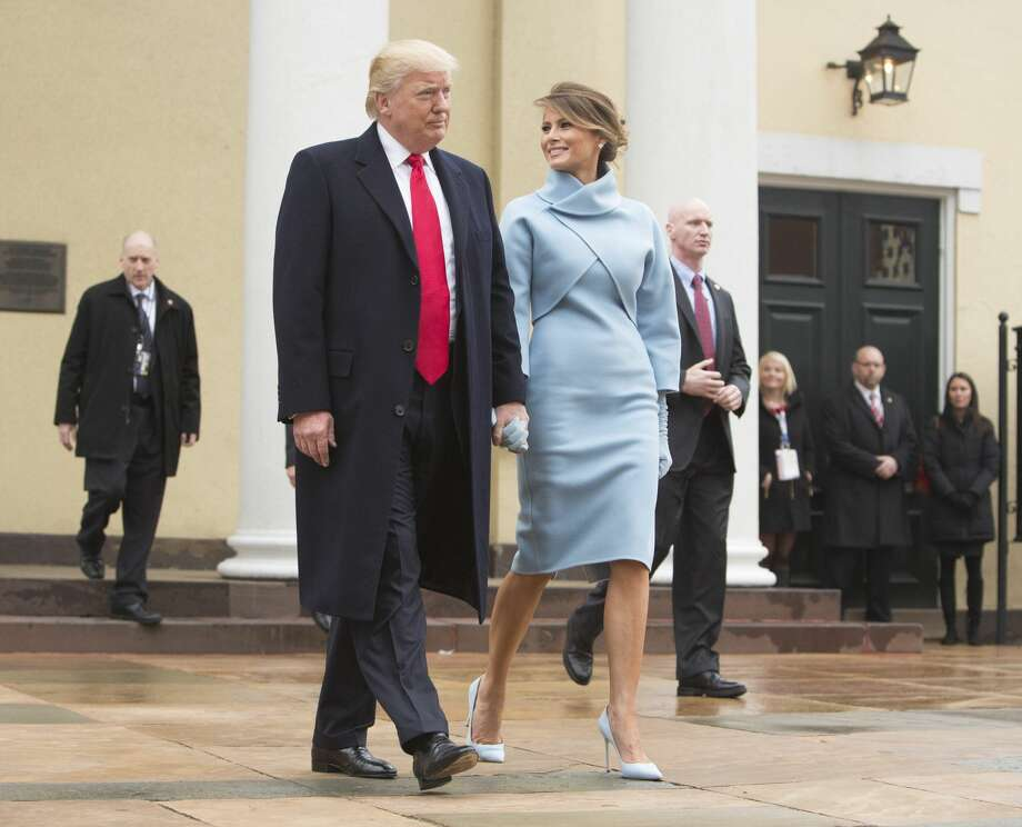 President-elect Donald J. Trump and first lady-elect Melania Trump depart St. John's Church on Inauguration Day on January 20, 2017 in Washington, DC. Donald J. Trump will become the 45th president of the United States today. Photo: Pool/Getty Images