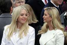 WASHINGTON, DC - JANUARY 20:  (L-R) Tiffany Trump and Ivanka Trump arrive on the West Front of the U.S. Capitol on January 20, 2017 in Washington, DC. In today's inauguration ceremony Donald J. Trump becomes the 45th president of the United States.  (Photo by Chip Somodevilla/Getty Images)