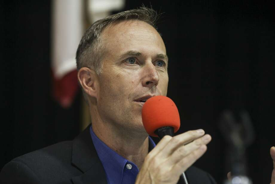 Rep. Jared Huffman (D-San Rafael) speaks during a forum held for the general public on May 29, 2015 at the Redwood Playhouse in Garberville. Huffman is planning to hold a Town Hall meeting with constituents on Monday in Petaluma. Photo: Sam Wolson, Special To The Chronicle