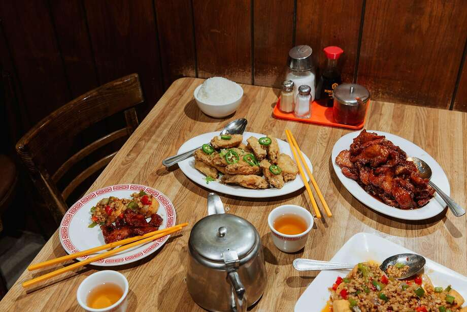 "Popular dishes at Capital Restaurant in the ""Eat Chinatown"" exhibit. Photo: Andria Lo"