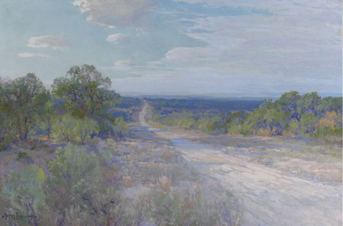 """""""A Road in Late Afternoon"""" is one of the paintings by Julian Onderdonk in """"Julian Onderdonk and the Texan Landscape,"""" an exhibit at the San Antonio Museum of Art."""