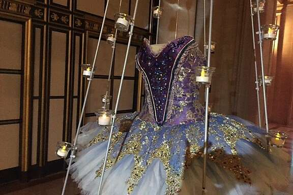 """Tutu in the """"Ever Magical"""" decor at City Hall"""