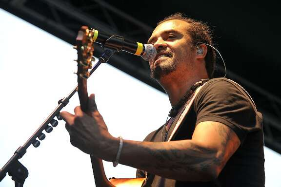 Michael Franti and Spearhead perfroms on stage during Alive@Five in Columbus Park in Stamford, Conn., on Thursday, July 9, 2015. The concerts begin at 5 p.m. and run for six Thursdays, July 9 - August 13. Hearst Connecticut Media is a sponsor of the event.
