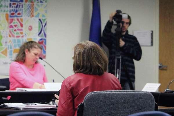 FairTV films at a Board of Education meeting in Fairfield, Conn. on Jan. 17, 2017.