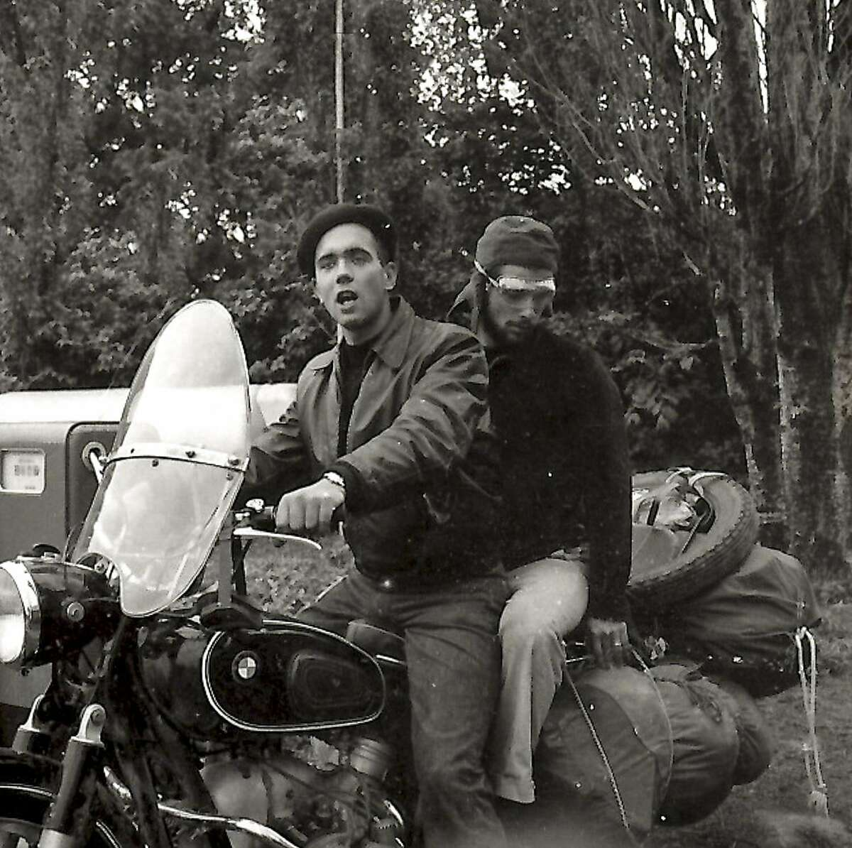 John Knoop (front) On the Way to Argentina. 1958.