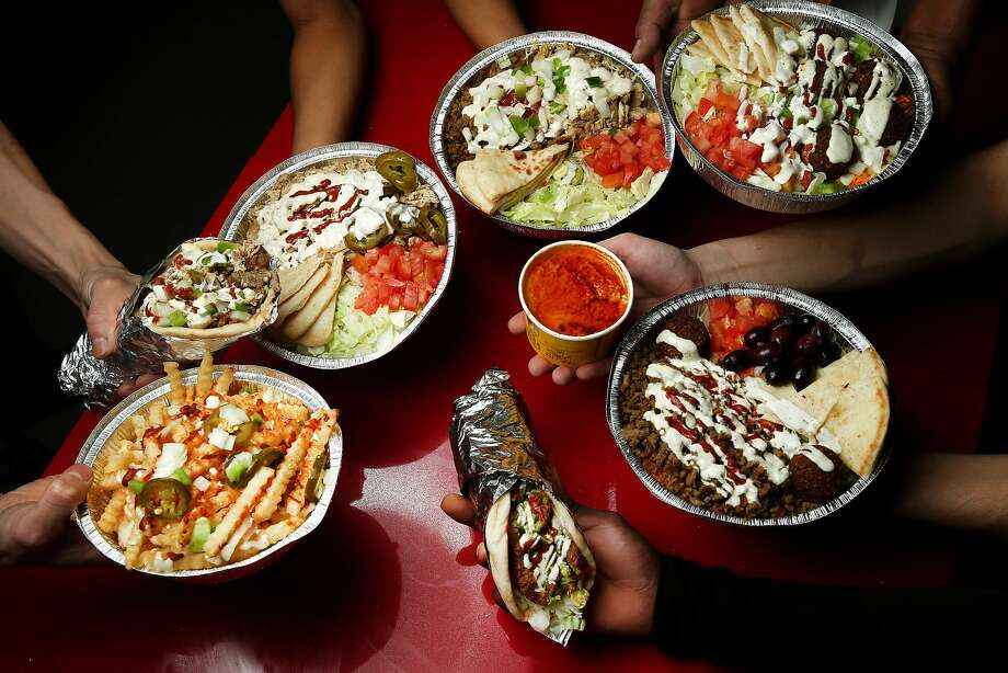 Platters, sandwiches and side orders at the Halal Guys in S.F. Photo: Santiago Mejia, The Chronicle