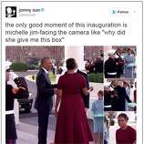 Awkward! Melania's gift catches Michelle off guard - SFGate