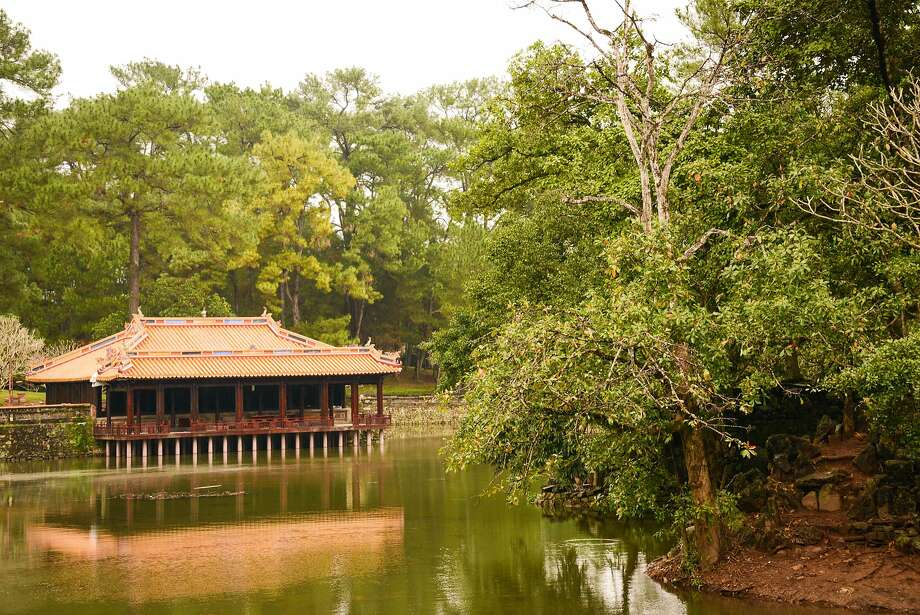 Emperor Tu Duc once relaxed here, in Xung Khiem Pavilion to recite or compose poetry, alongside his concubines. Photo: Jill K. Robinson, Special To The Chronicle