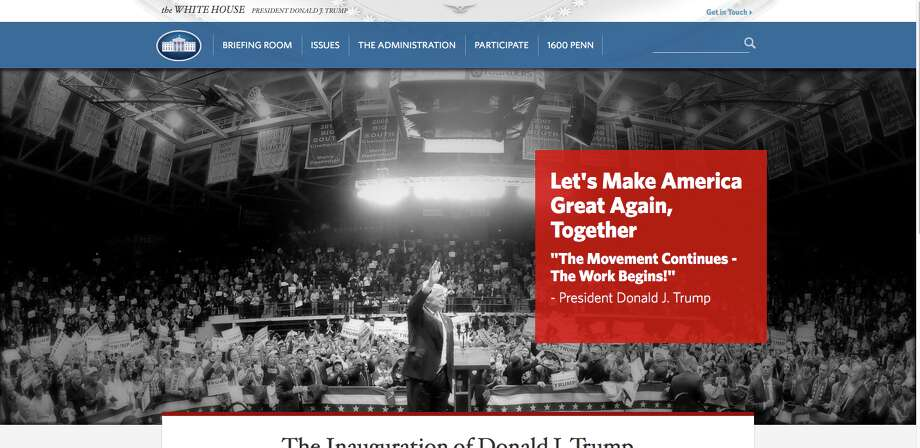 Just moments after President Donald Trump took the oath of office Friday, the official White House website was transformed into a set of policy pledges that offered the broad contours of the Trump administration's top priorities.
