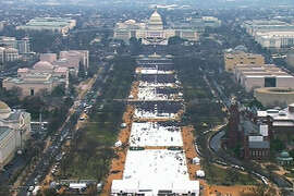 This photo shows the 2017 inauguration of President Donald Trump.