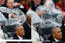 1. 43rd U.S President George W. Bush couldn't figure out how to work a poncho.  
