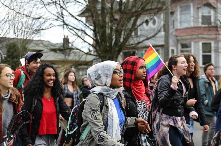 Image result for Seattle Schools Student Walkouts on Inauguration Day