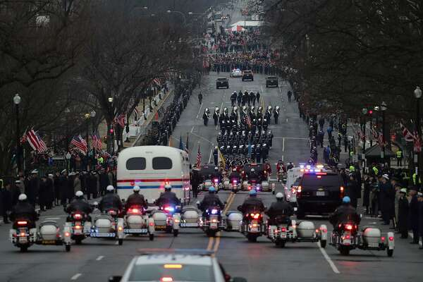 WASHINGTON, DC - JANUARY 20:  The Inaugural Parade proceeds on Pennsylvania Avenue on January 20, 2017 in Washington, DC. Donald J. Trump was sworn in today as the 45th president of the United States.  (Photo by Chip Somodevilla/Getty Images)