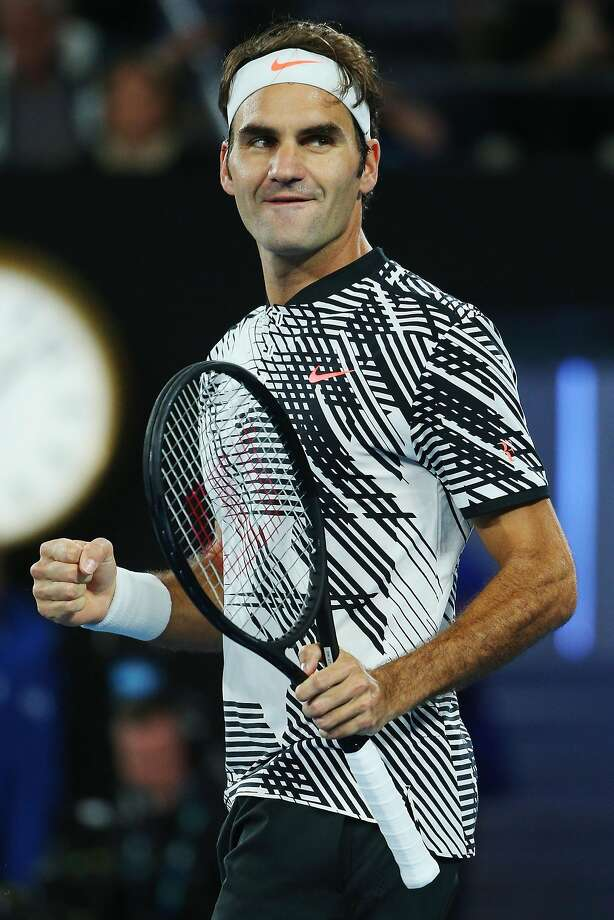 Roger Federer needed only 90 minutes to win in straight sets and advance to the fourth round. Photo: Michael Dodge, Getty Images