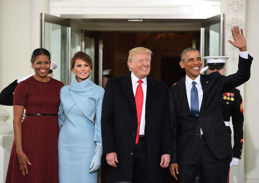 Us President Barack R And First Lady Michelle L Welcome