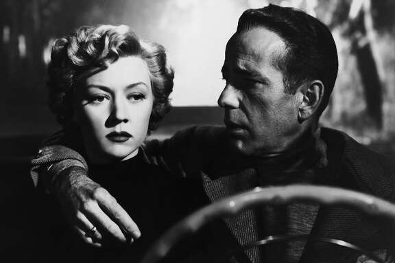 "Gloria Grahame and Humphrey Bogart in ""In a Lonely Place""  Gloria Grahame and Humphrey Bogart in Nicholas Ray's IN A LONELY PLACE (1950). Courtesy Sony Pictures Repertory/Film Forum. Playing 7/17-7/23."