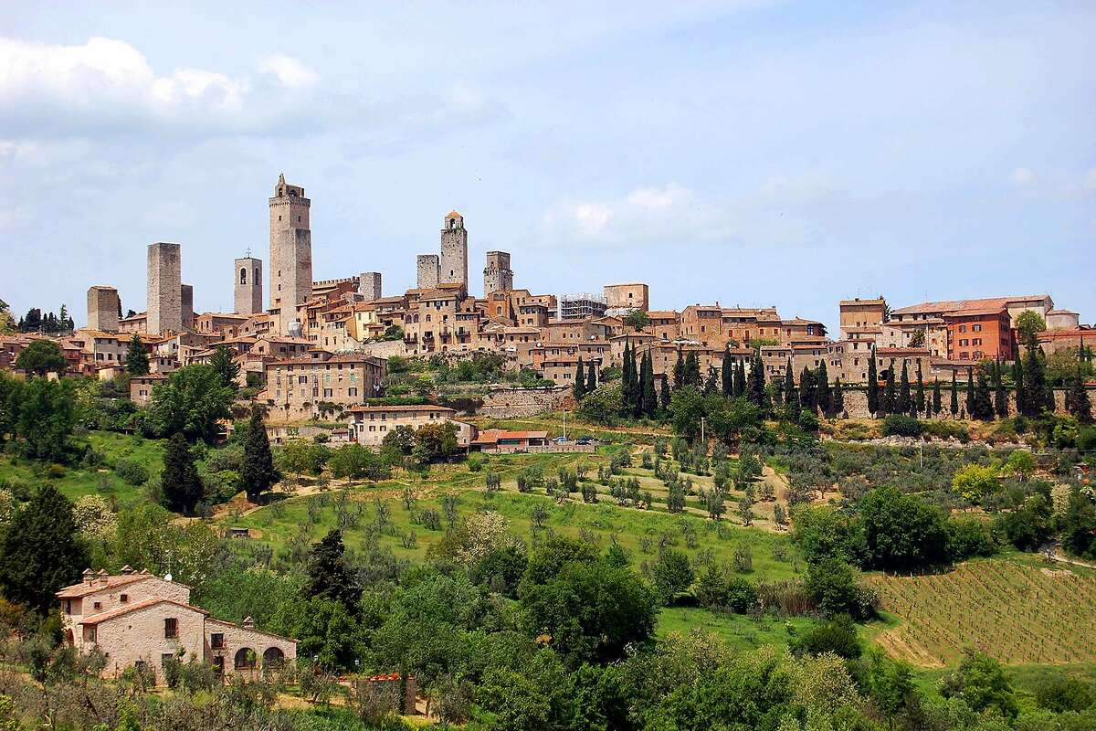 San Gimignano is an amazingly preserved hill town in Tuscany, with 14 medieval towers still standing.