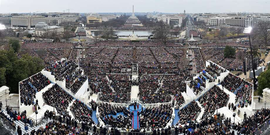 A panoramic view of the 58th presidential inauguration in Washington, D.C., U.S., on Friday, Jan. 20, 2017. Donald Trump became the 45th president of the United States today, in a celebration of American unity for a country that is anything but unified. Photographer: Ricky Carioti/Pool via Bloomberg Photo: Ricky Carioti, Bloomberg