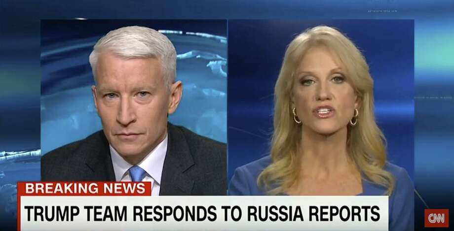"This screen image from CNN shows anchor Anderson Cooper, left, and Trump adviser Kellyanne Conway during their 25-minute televised confrontation on CNN on Jan. 11, after the network reported that national intelligence officials informed the president-elect that the Russians had collected a dossier on his behavior. CNN did not specifically detail what that behavior was because it couldnt vouch for its veracity. But it was CNN that gave BuzzFeed the cover to do so, Conway said. ""You got the party started,"" she said. Photo: /Associated Press / CNN"