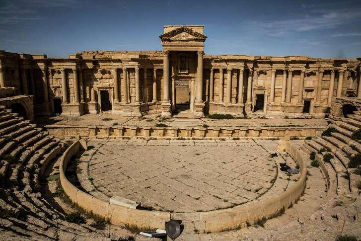 "UNESCO has branded the destruction of this second-century Roman amphitheater and other heritage sites by the Islamic State ""cultural cleansing."""