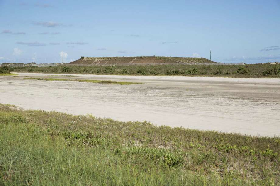 A mound that would host SpaceX's launch pad is seen in this 2016 photo. SpaceX recently delivered a large liquid oxygen tank to the site near Boca Chica beach. Photo: Carolyn Van Houten /Carolyn Van Houten / 2016 San Antonio Express-News