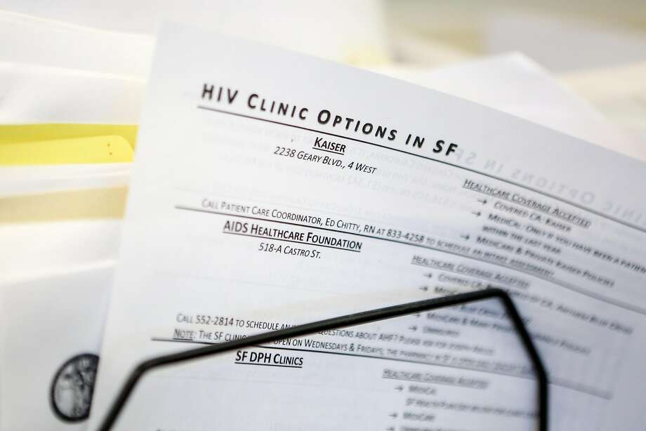 The San Francisco AIDS Foundation offers patients a guide to clinics. Photo: Amy Osborne, Special To The Chronicle