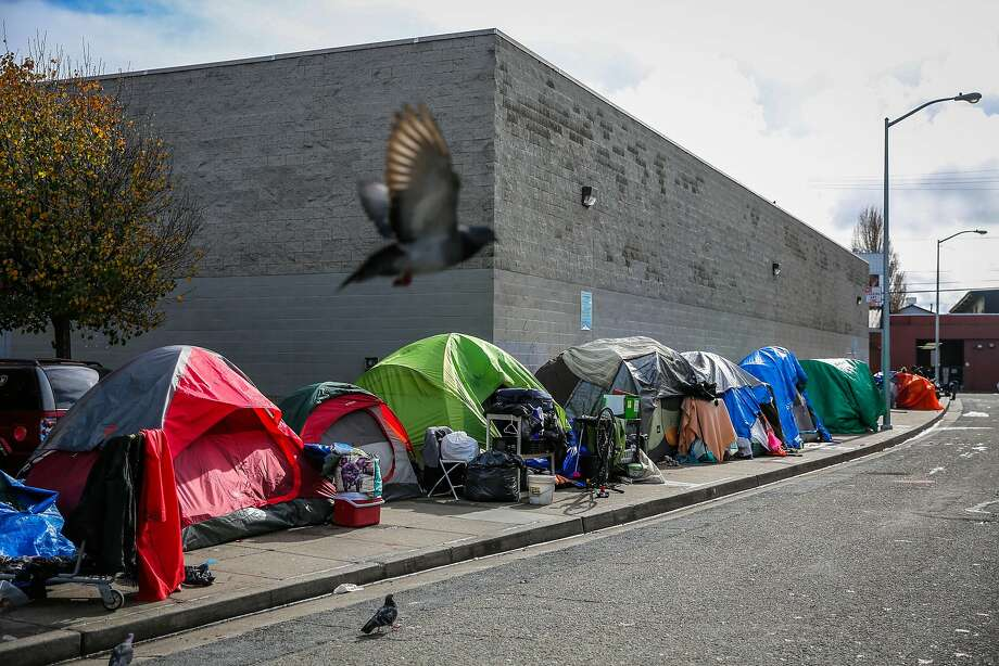 A tent encampment on Trainor Street in San Francisco. Photo: Gabrielle Lurie, The Chronicle
