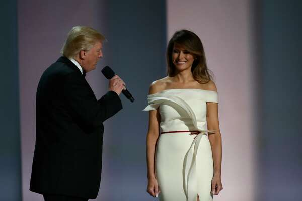 WASHINGTON, DC - JANUARY 20: President Donald Trump and First Lady Melania Trump attend the Liberty Inaugural Ball on January 20, 2017 in Washington, DC. The Liberty Ball is the first of three inaugural balls that President Donald Trump will be attending. (Photo by Rob Carr/Getty Images)