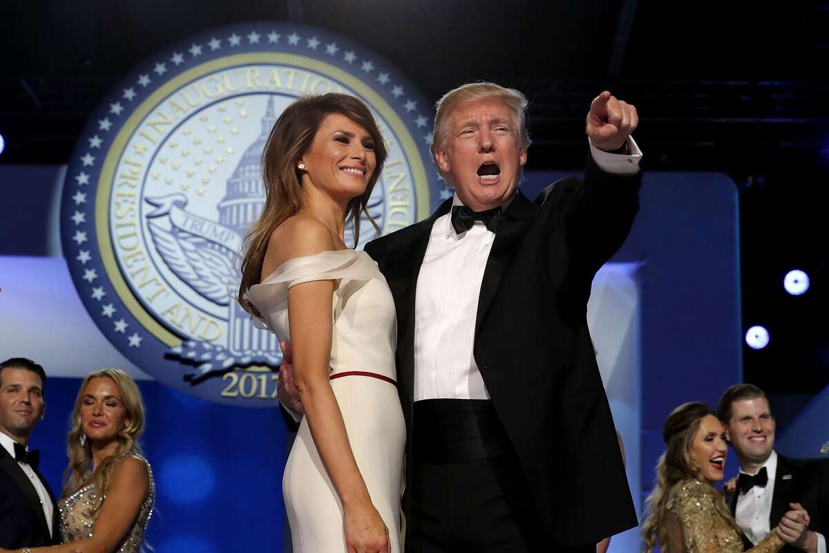 Click through this slideshow for photos from the inaugural balls in Washington D.C. on the night of January 20. WASHINGTON, DC - JANUARY 20: U.S. President Donald Trump dances with first lady Melania Trump during the inaugural Freedom Ball at the Washington Convention Center January 20, 2017 in Washington, DC. The ball is part of the celebrations following Trump's inauguration. (Photo by Chip Somodevilla/Getty Images)