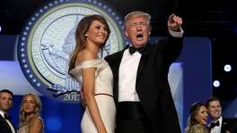 WASHINGTON, DC - JANUARY 20: U.S. President Donald Trump dances with first lady Melania Trump during the inaugural Freedom Ball at the Washington Convention Center January 20, 2017 in Washington, DC. The ball is part of the celebrations following Trump's inauguration. (Photo by Chip Somodevilla/Getty Images)