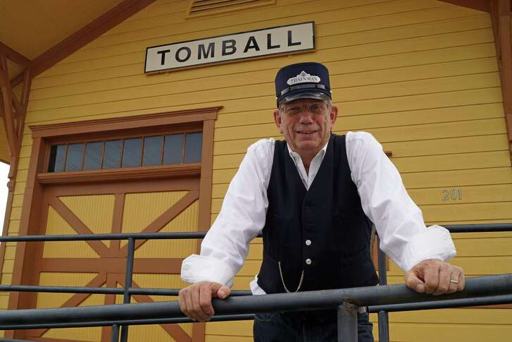 John Lockwood is volunteering time as the station agent at the Tomball Railroad Depot. The railroad is coming back to Tomball. Or at least it is in regards to a museum chronicling its importance to Tomball and Harris County's development. The museum will display a collection of two locomotives, six passenger cars, three freight cars, two cabooses, and hundreds of small artifacts.