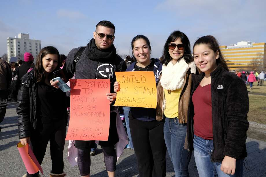 The Women's March on Stamford was held on January 21, 2017. In  solidarity with the Women's March on Washington, marches across the  country protested the rhetoric of President Donald Trump's campaign.  Were you SEEN? Photo: Dawn Kubie