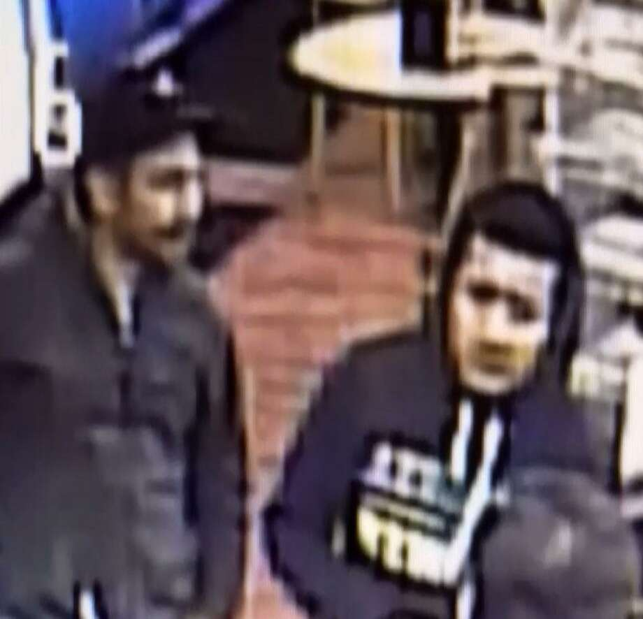 Laredo police said the three men shown in these pictures are part of a theft case that allegedly occurred Jan. 7 at the Pump-N-Shop, 6552 Springfield Ave. Photo: Courtesy Photo /Laredo Police Department