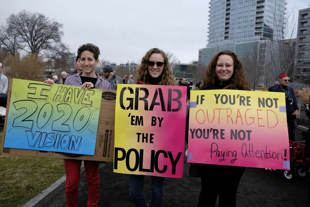 The Women's March on Stamford was held on January 21, 2017. In solidarity with the Women's March on Washington, marches across the country protested the rhetoric of President Donald Trump's campaign. Were you SEEN?