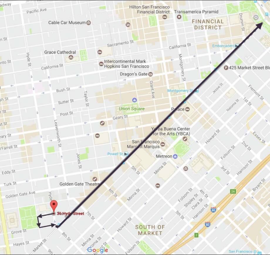 San Francisco Womens March Route Map SFGate - Map san francisco bus routes
