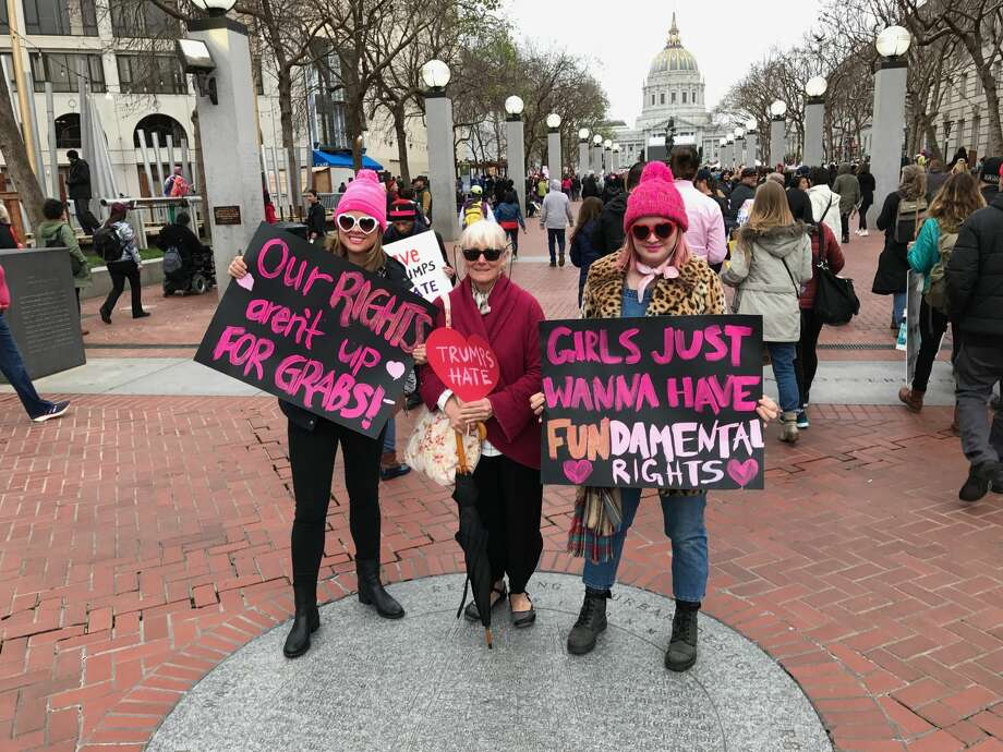 Warning: offensive language. Scroll through the gallery to see images from the Women's Marches in the Bay Area, Jan. 21, 2017.  Photo: Utting